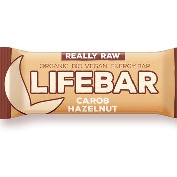 Organic Raw Bar Carob & Hazelnut Lifefood