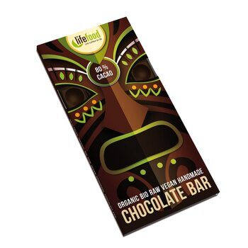Organic Raw Chocolate 80% Cacao Lifefood 70g