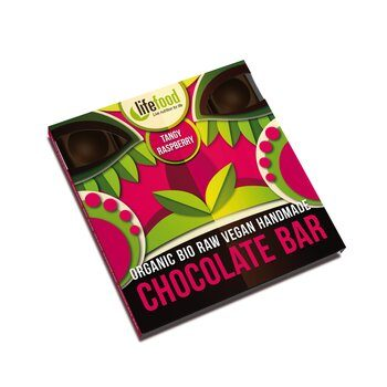 Organic Raw Chocolate Tangy Raspberry Lifefood 35g